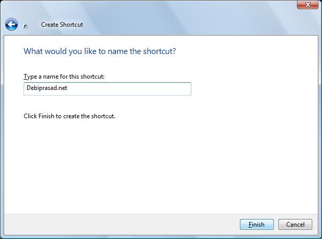 Name the shortcut